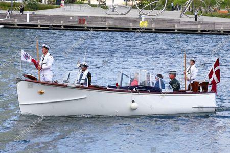 Queen Margrethe II of Denmark, Federal President Steinmeier on a state visit to Denmark, dinner on the royal yacht Danneborg