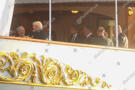 Queen Margrethe II of Denmark, Frank-Walter Steinmeier, Federal President Steinmeier on a state visit to Denmark, dinner on the royal yacht Danneborg