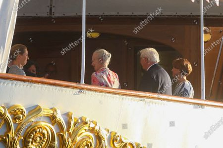 Queen Margrethe II of Denmark, Frank-Walter Steinmeier, Elke Budenbender, Federal President Steinmeier on a state visit to Denmark, dinner on the royal yacht Danneborg