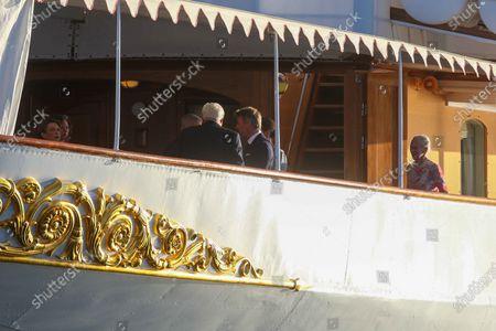 Elke Budenbender, Frank-Walter Steinmeier, Queen Margrethe II of Denmark, Federal President Steinmeier on a state visit to Denmark, dinner on the royal yacht Danneborg
