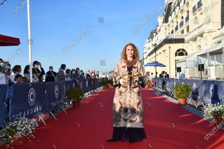Stock Image of Marisa Berenson receives an honorary Swann