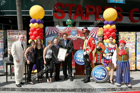 Editorial image of Iconic Circus Founder P.T. Barnum Star Dedication Ceremony at STAPLES Center's Plaza, Los Angeles, America - 15 Jul 2010