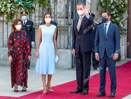King Felipe VI receives Andalucian region's medal of honor, Seville