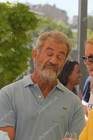 Mel Gibson sighted at the VIP Village of Roland Garros