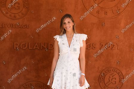 Stock Image of Camille Cerf sighted at the VIP Village of Roland Garros
