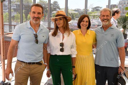 Jean Dujardin, Nadia Fares, Nathalie Pechalat and Mel Gibson sighted at the VIP Village of Roland Garros