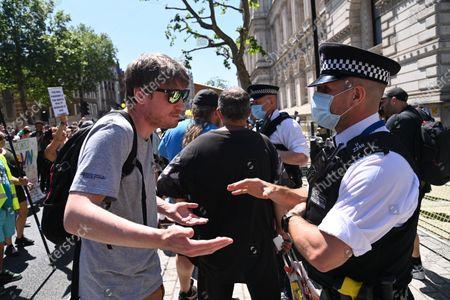 Anti-Lockdown demonstration outside Downing Street, London