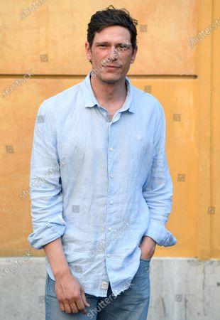 Matteo Martari poses during a photocall for the movie 'Il Giorno e la Notte' in Rome, Italy, 14 June 2021.