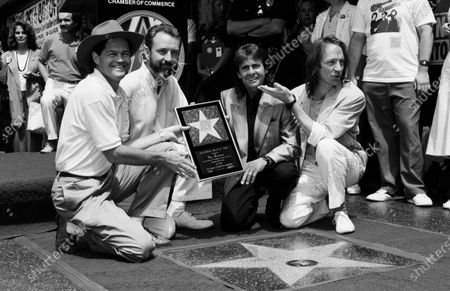 UNITED STATES - JULY 01:  (L-R) Mickey Dolenz, Michael Nesmith, Davey Jones and Peter Tork of The Monkees
