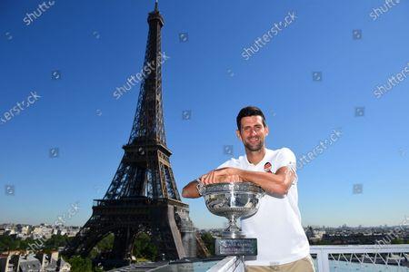 Novak Djokovic photocall, Paris