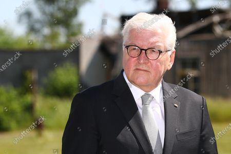 Frank-Walter Steinmeier visits Stalag X B, Sandbostel