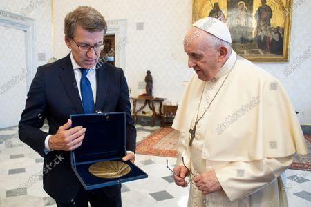 Pope Francis meets H.E. Msgr. Julian Barrio Barrio, The Vatican