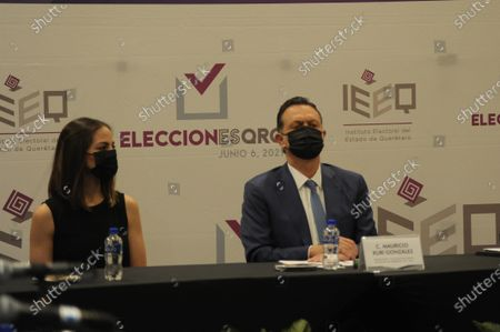 Stock Photo of Mauricio Kuri of National Action Party (PAN) receives by Queretaro Electoral Institute a certificate of votes majority in the recent electoral process that certify as Governor Elect of the State of Queretaro on June 13, 2021 in Queretaro, Mexico.