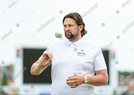 Stock Photo of Steve Harmison during the bowling masterclass.
