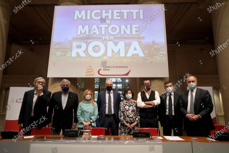 Vittorio Sgarbi, Antonio Tajani, Giorgia Meloni, Enrico Michetti, Simonetta Matone, Matteo Salvini, Maurizio Lupi, Lorenzo Cesa