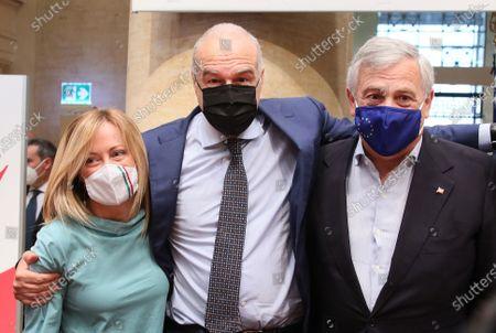 Giorgia Meloni, Enrico Michetti, Antonio Tajani