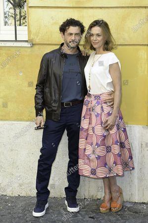 Vinicio Marchioni and Milena Mancini