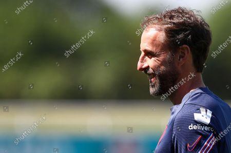 England manager Gareth Southgate smiles