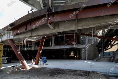 The new Orange County Museum of Art is under construction on May 13, 2021 in Costa Mesa, California.(Gina Ferazzi / Los Angeles Times)