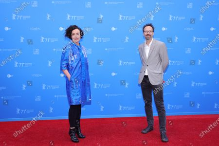 Maria Schrader (L) and Berlinale Artistic Director Carlo Chatrian (R) attend the European Shooting Stars Awards and 'Ich bin dein Mensch' (I'm Your Man) premiere during the 71st Berlinale International Film Festival Summer Special at Freiluftkino Museumsinsel in Berlin, Germany, 15 June 2021. Due to the coronavirus COVID-19 pandemic, the 71st Berlinale is taking place in two stages: a virtual Industry Event, that was held from 01 to 05 March 2021, and the Summer Special for the general public running from 09 to 20 June 2021 as an outdoor-only event.