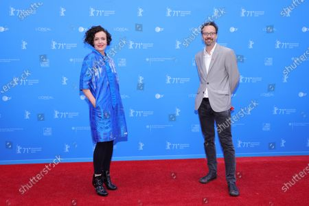 Maria Schrader (L) and Berlinale Artistic Director Carlo Chatrian attend the European Shooting Stars Awards and 'Ich bin dein Mensch' (I'm Your Man) premiere during the 71st Berlinale International Film Festival Summer Special at Freiluftkino Museumsinsel in Berlin, Germany, 15 June 2021. Due to the coronavirus COVID-19 pandemic, the 71st Berlinale is taking place in two stages: a virtual Industry Event, that was held from 01 to 05 March 2021, and the Summer Special for the general public running from 09 to 20 June 2021 as an outdoor-only event.