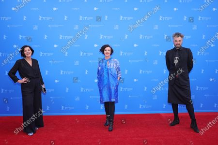 Lisa Blumenberg, Maria Schrader and Jan Schomburg the European Shooting Stars Awards and 'Ich bin dein Mensch' (I'm Your Man) premiere during the 71st Berlinale International Film Festival Summer Special at Freiluftkino Museumsinsel in Berlin, Germany, 15 June 2021. Due to the coronavirus COVID-19 pandemic, the 71st Berlinale is taking place in two stages: a virtual Industry Event, that was held from 01 to 05 March 2021, and the Summer Special for the general public running from 09 to 20 June 2021 as an outdoor-only event.