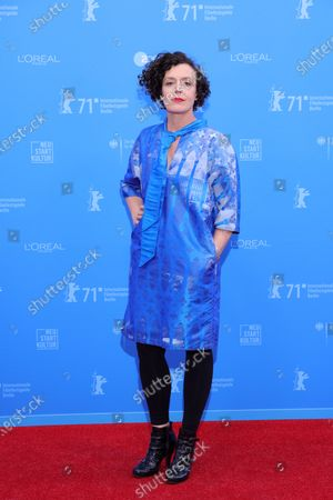 Stock Image of Maria Schrader attends the European Shooting Stars Awards and 'Ich bin dein Mensch' (I'm Your Man) premiere during the 71st Berlinale International Film Festival Summer Special at Freiluftkino Museumsinsel in Berlin, Germany, 15 June 2021. Due to the coronavirus COVID-19 pandemic, the 71st Berlinale is taking place in two stages: a virtual Industry Event, that was held from 01 to 05 March 2021, and the Summer Special for the general public running from 09 to 20 June 2021 as an outdoor-only event.