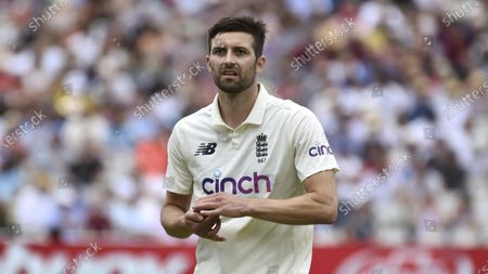 England's Mark Wood during the third day of the 2nd Test match between England and New Zealand at Edgbaston cricket ground in Birmingham, England