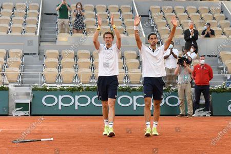 Pierre-Hugues Herbert and Nicolas Mahut (FRA) plays against Alexander Bulbik and Andrey Golubev (KAZ)