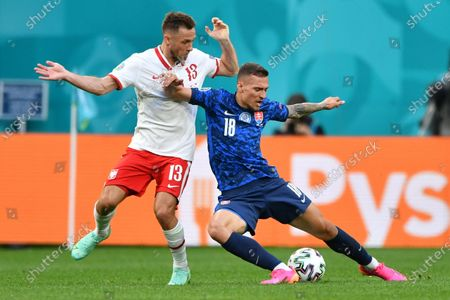 Editorial picture of Group E Poland vs Slovakia, St Petersburg, Russian Federation - 14 Jun 2021