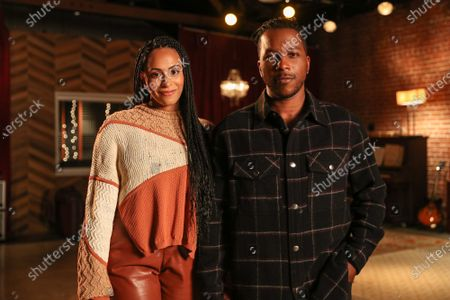 """Behind the Scenes with Leslie Odom Jr., Nicolette Robinson and Stuart Robinson, at the shoot featuring """"Second Chance"""" for Bayer Aspirin's new, """"Your Heart Isn't Just Yours,"""" campaign."""