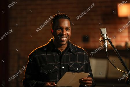 """Stock Picture of Behind the Scenes with Leslie Odom Jr., Nicolette Robinson and Stuart Robinson, at the shoot featuring """"Second Chance"""" for Bayer Aspirin's new, """"Your Heart Isn't Just Yours,"""" campaign."""