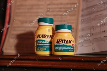 Editorial image of Bayer Aspirin behind the scenes shoot, Los Angeles, California, USA - 28 April 2021