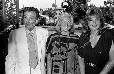 UNITED STATES - JULY 01:  Mike Connors, wife Mary Lou Willey and their daughter