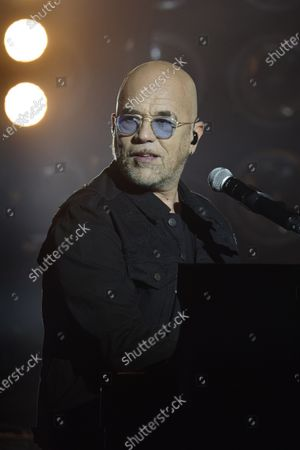 Stock Picture of Pascal Obispo in concert