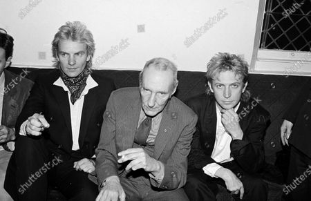 UNITED STATES - FEBRUARY 01:  Sting, William Burroughs, and Andy Summers