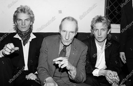 UNITED STATES - FEBRUARY 01:  Sting, Andy Summers and Sting, William Burroughs, and Andy Summers