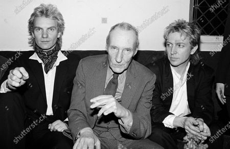 UNITED STATES - FEBRUARY 01:  Sting, Andy Summers and William Burroughs