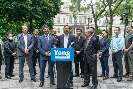 Editorial picture of Mayoral candidate Andrew Yang received endorsement by CEA and AAPEX, New York, United States - 14 Jun 2021