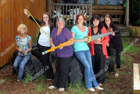 L-R Jayne Naylor, Amanda Wilmot, Linda Bowrne, Melanie Anderson, Lynda Ross and Helen Williams