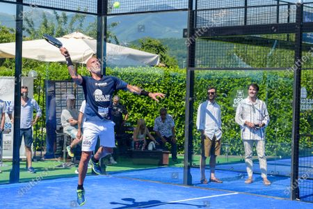 Stock Image of Paolo Di Canio  during the Padel Solidarity at the Rieti Sport Festival, in Rieti, Italy, on June 13, 2021.