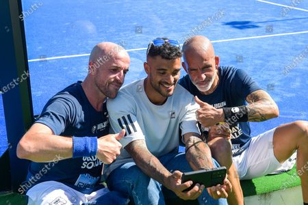 Paolo Di Canio, Andre Howe  during the Padel Solidarity at the Rieti Sport Festival, in Rieti, Italy, on June 13, 2021.