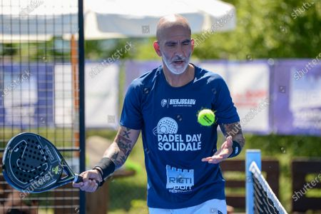 Paolo di Canio  during the Padel Solidarity at the Rieti Sport Festival, in Rieti, Italy, on June 13, 2021.