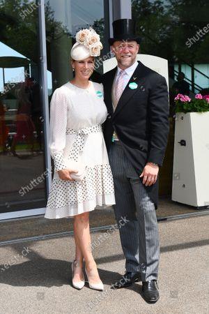 Zara Tindall and Mike Tindall arrive at Ascot
