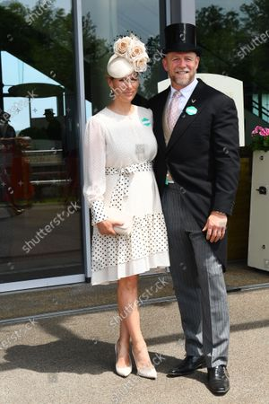 Stock Photo of Zara Tindall and Mike Tindall arrive at Ascot
