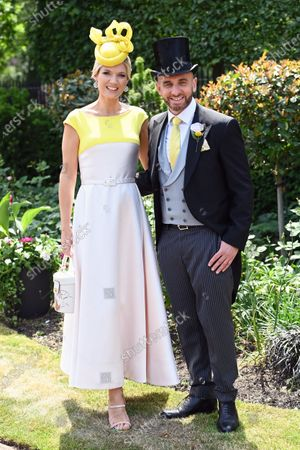 Charlotte Hawkins and Mark Heyes