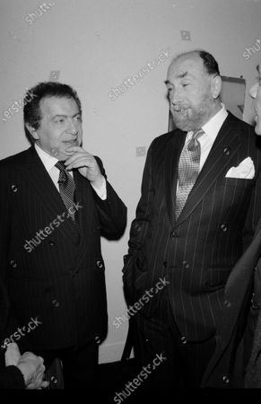 Editorial picture of Comedian Jackie Mason and attorney Raoul Felder
