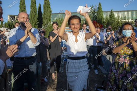 The Socialist candidate for the Regionals in Auvergne-Rhone-Alpes, Najat Vallaud-Belkacem, was in a meeting in Lyon on Monday evening, a few days before the 1st round of the elections scheduled for Sunday 20 June.