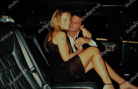 Editorial photo of Carey & Miguel In Limo