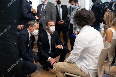 Editorial image of Minister of Health and Secretary of State for Children visits vaccination centre, Paris, France - 15 Jun 2021